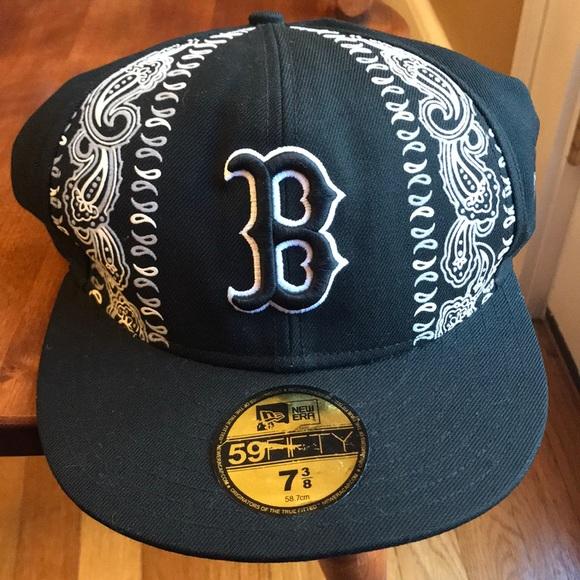 18f0688a3c2 Red Sox New Era MLB Bandana Hat 59Fifty 7 3 8. M 5c0a6bbad365be92332515c3